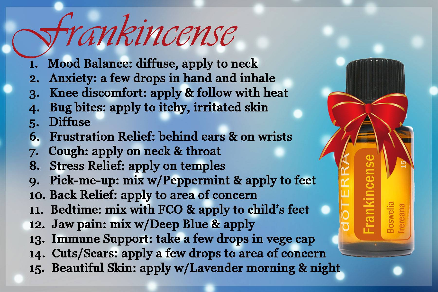 how to use frankincense oil